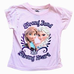 Disney Pink Frozen Elsa Anna Tee Size 5/6